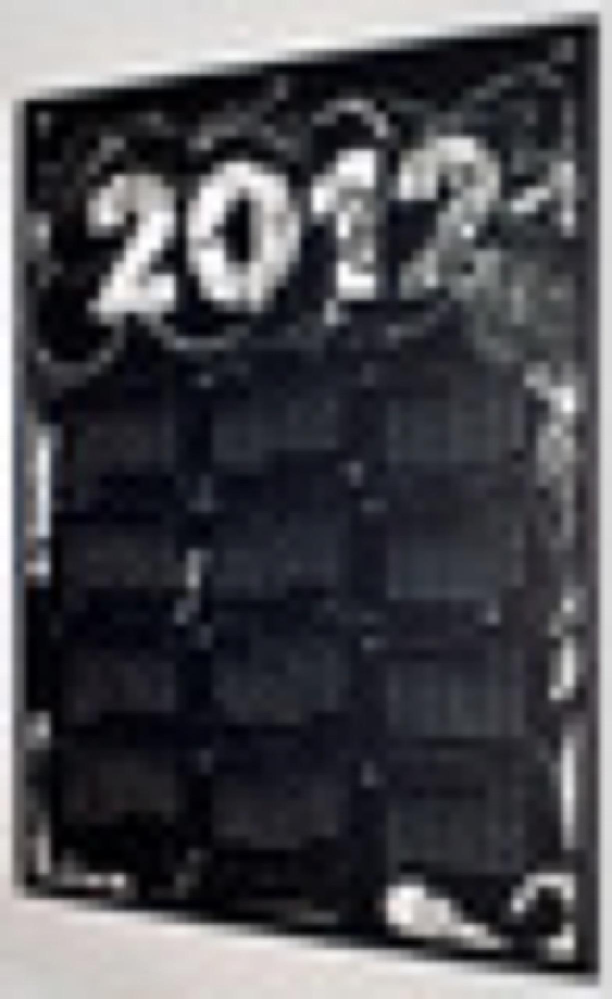 Laser Cut Calendar 2012